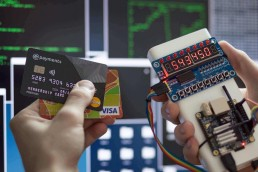 a hacker stealing credit card information