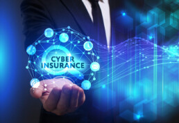 cyber insurance in the palm of man's hand